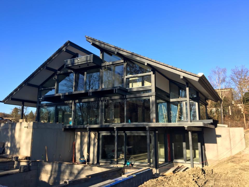 neubauprojekt modernes fachwerkhaus in coburg kurth haus kurth haus. Black Bedroom Furniture Sets. Home Design Ideas