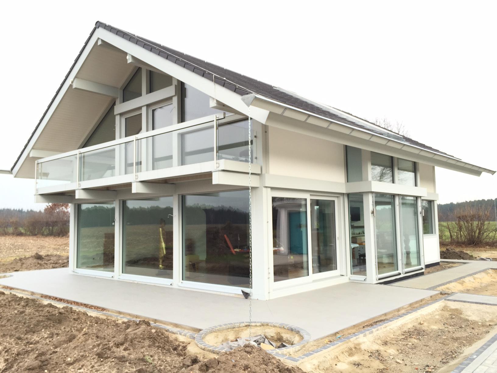 Neubauprojekt modernes fachwerkhaus in steinhorst kurth for Modernes fachwerkhaus